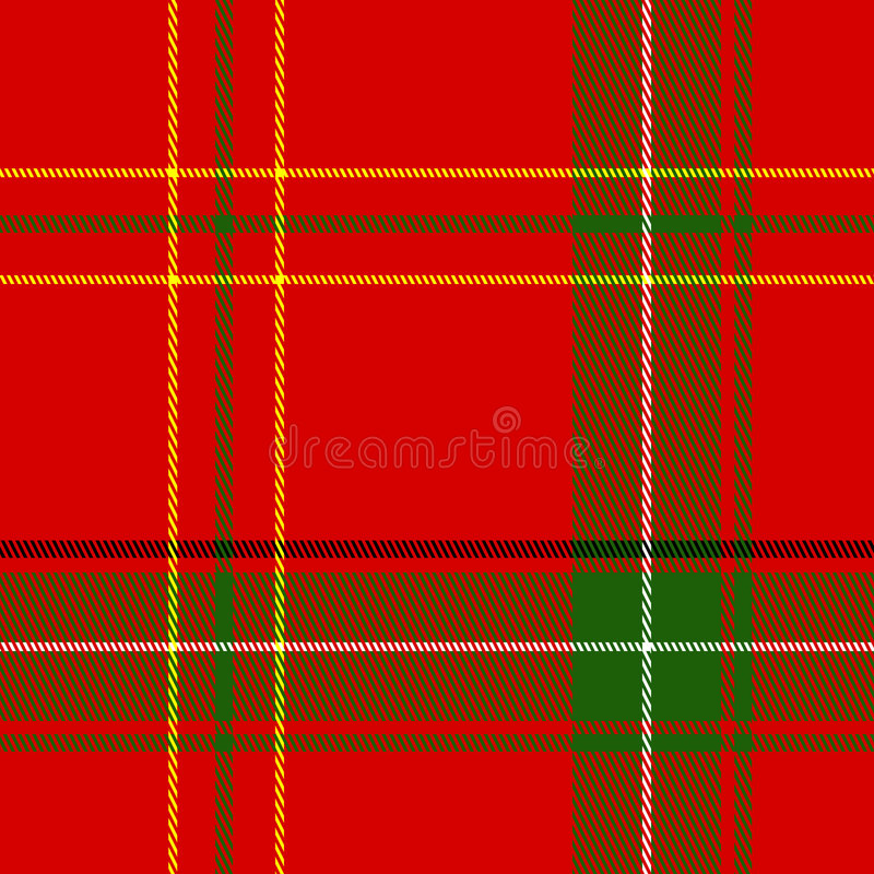 Free Vector Seamless Christmas Plaid Stock Photos - 6954823