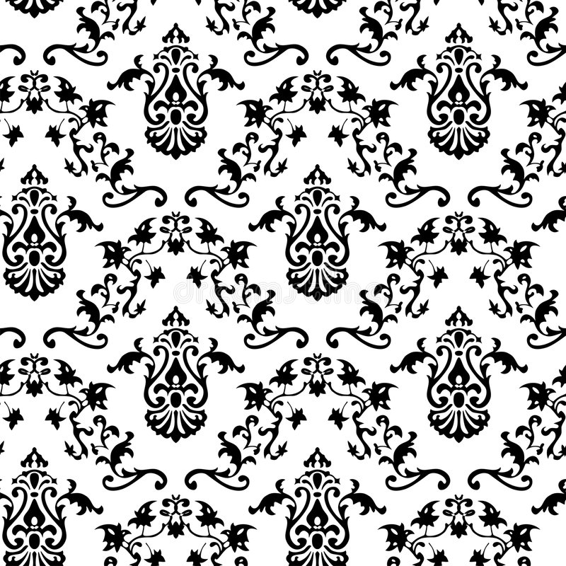 Vector. Seamless Classicism pattern. Vector. Seamless Classicism historical pattern. Black pattern on white background stock illustration