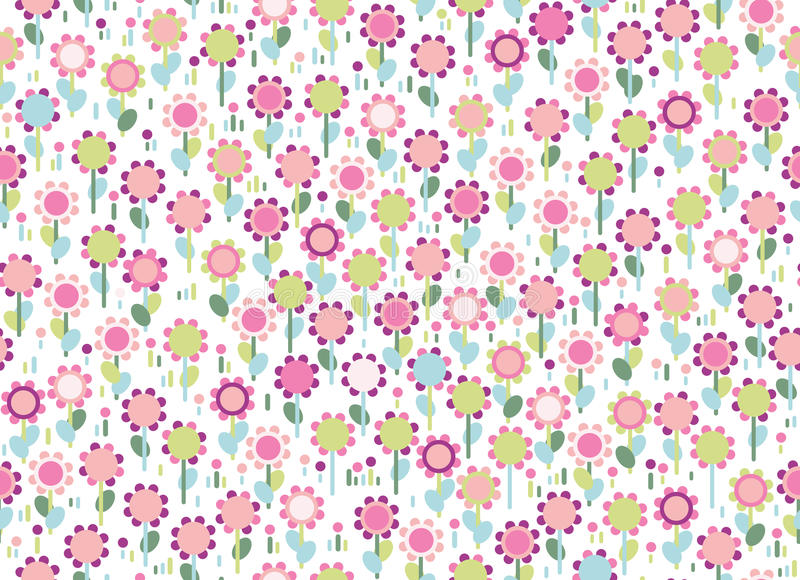 Vector seamless colorful floral pattern. royalty free illustration