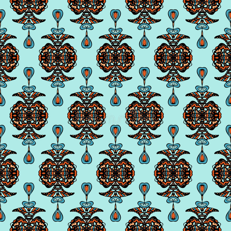 Free Vector Seamless Damask Pattern Royalty Free Stock Photography - 34124087