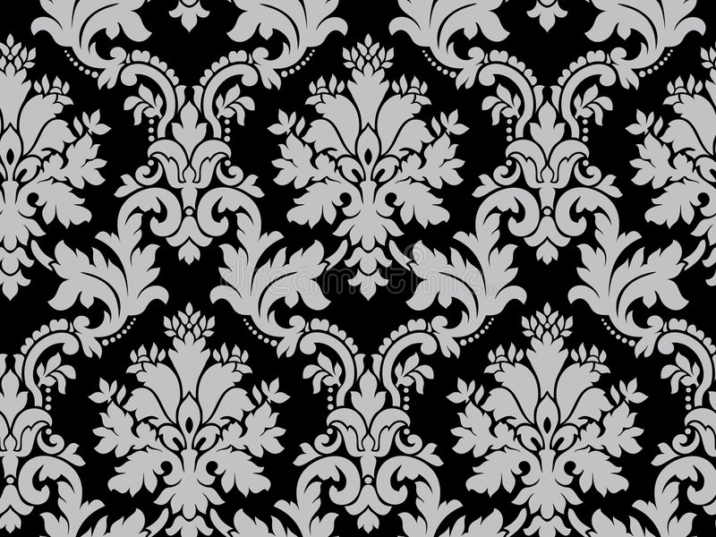 Vector. Seamless damask pattern stock images