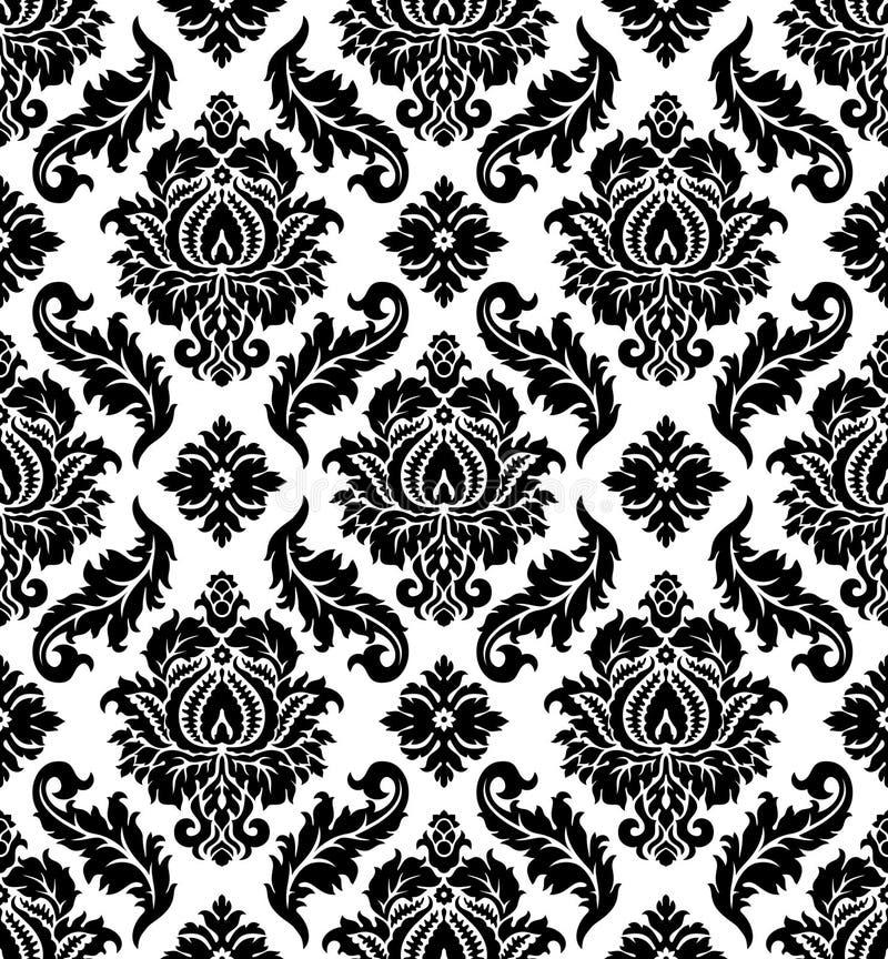 Vector. Seamless damask pattern stock photo
