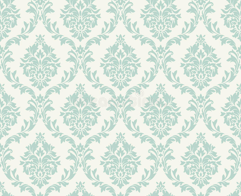 Vector seamless damask pattern stock illustration