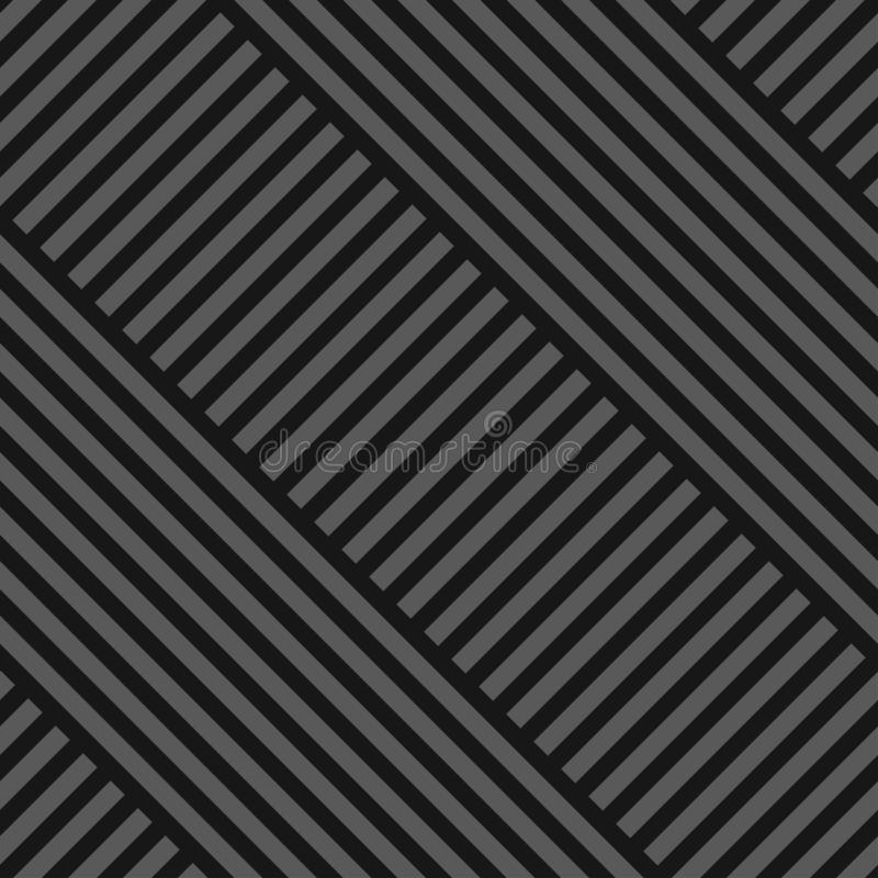 Vector seamless diagonal geometric pattern - dark gray striped texture. Endless linear background. Creative Design. royalty free illustration