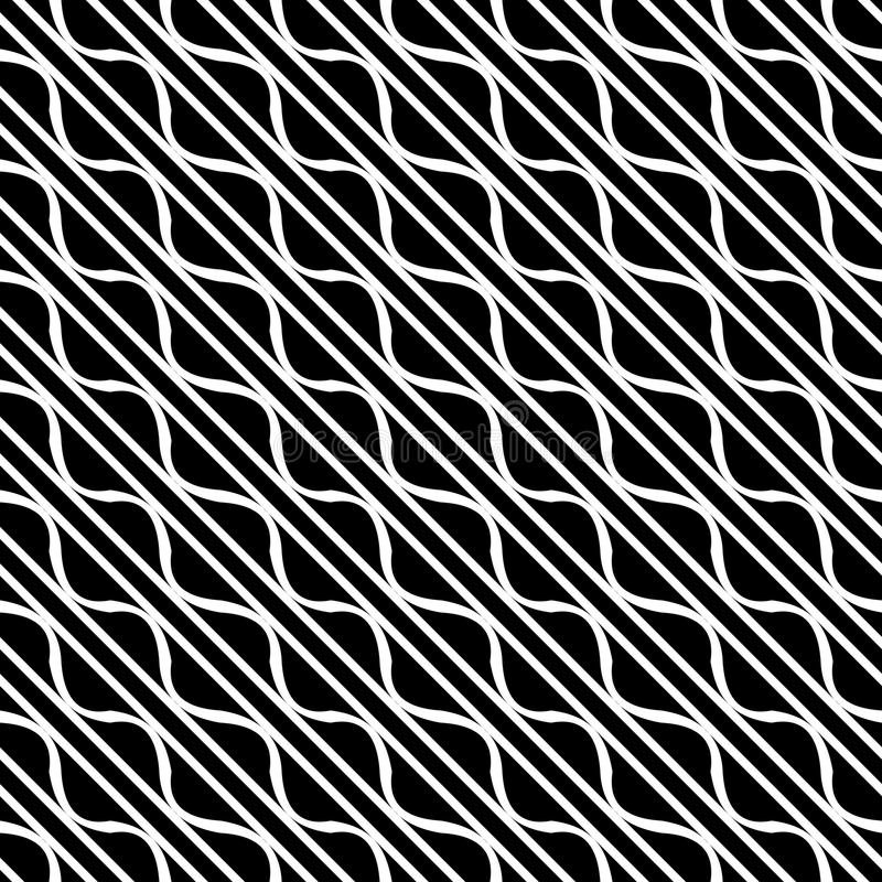 Vector seamless diagonal lines pattern black and white. abstract background wallpaper. vector illustration. Grey, lighting. royalty free illustration