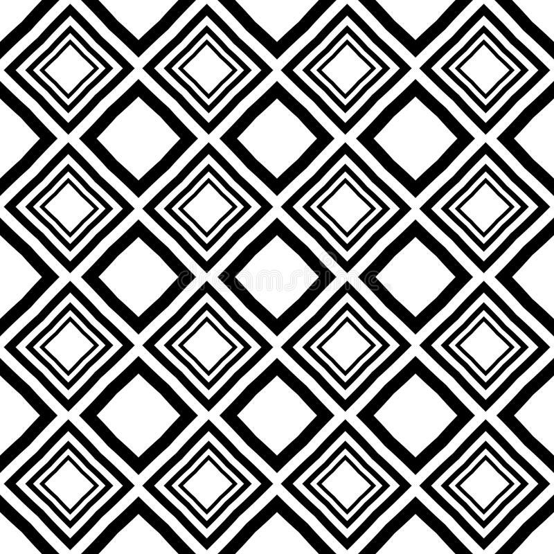 Vector Seamless Diamond Pattern Black And White Abstract Background Wallpaper Vector Illustration Stock Vector Illustration Of Boll Ball 123943670