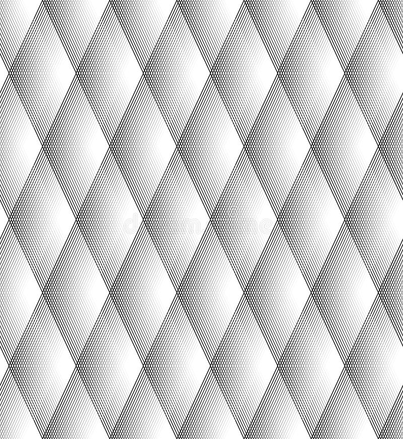 Vector - Seamless Diamond Pattern Black And White royalty free illustration