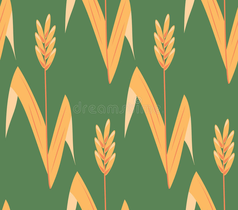 Download Vector Seamless Ear Field Background Stock Vector - Image: 10240633