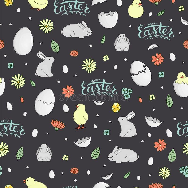 Vector seamless Easter pattern stock illustration