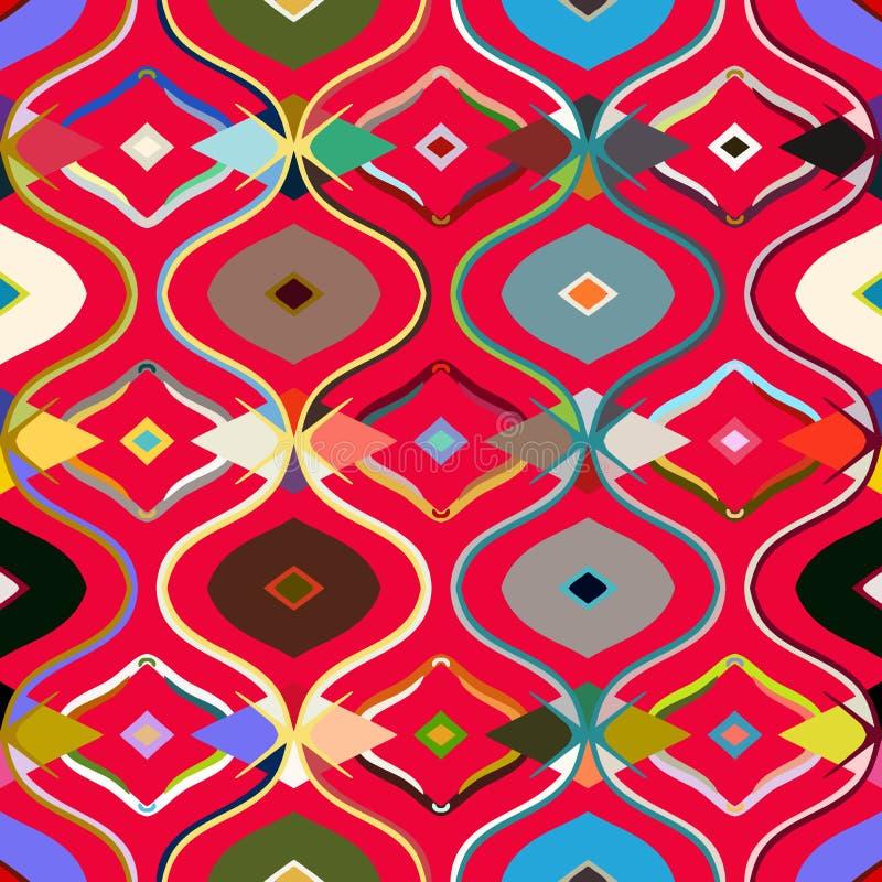 Vector seamless ethnic pattern royalty free illustration