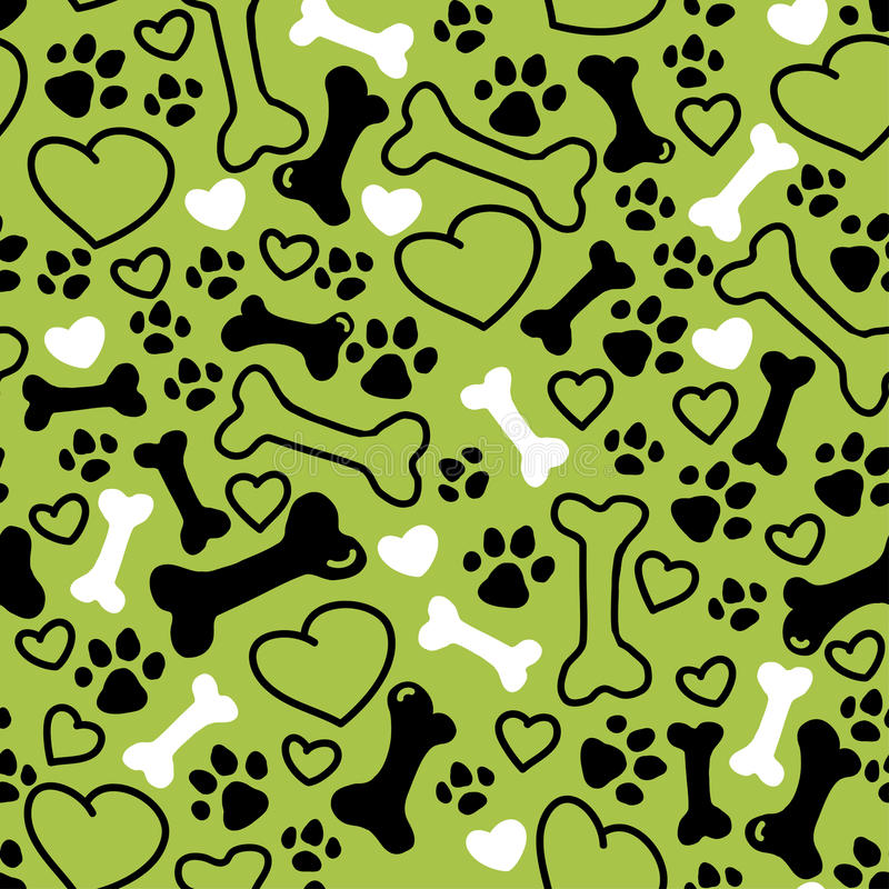 Free Vector Seamless Flat Hand Drawn Dog Pattern Stock Images - 70903564