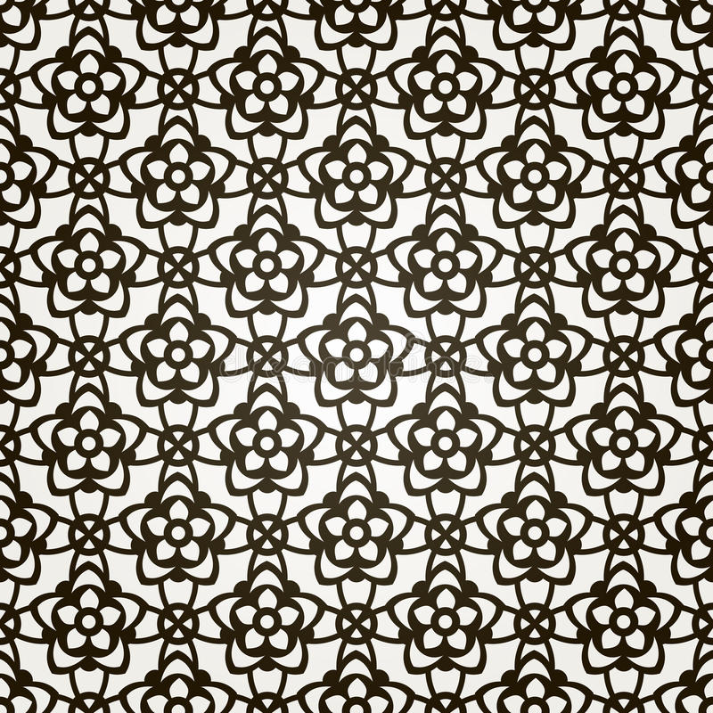Vector seamless floral background. Lace pattern. vector illustration