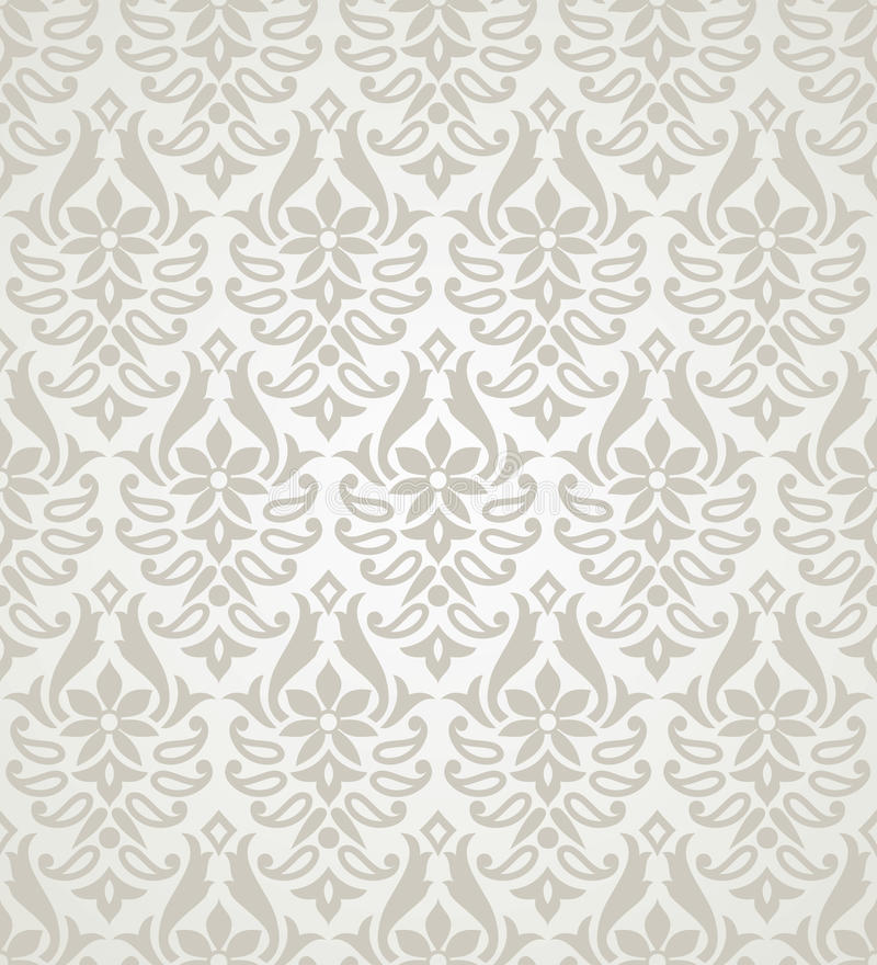 Vector seamless floral damask pattern royalty free illustration