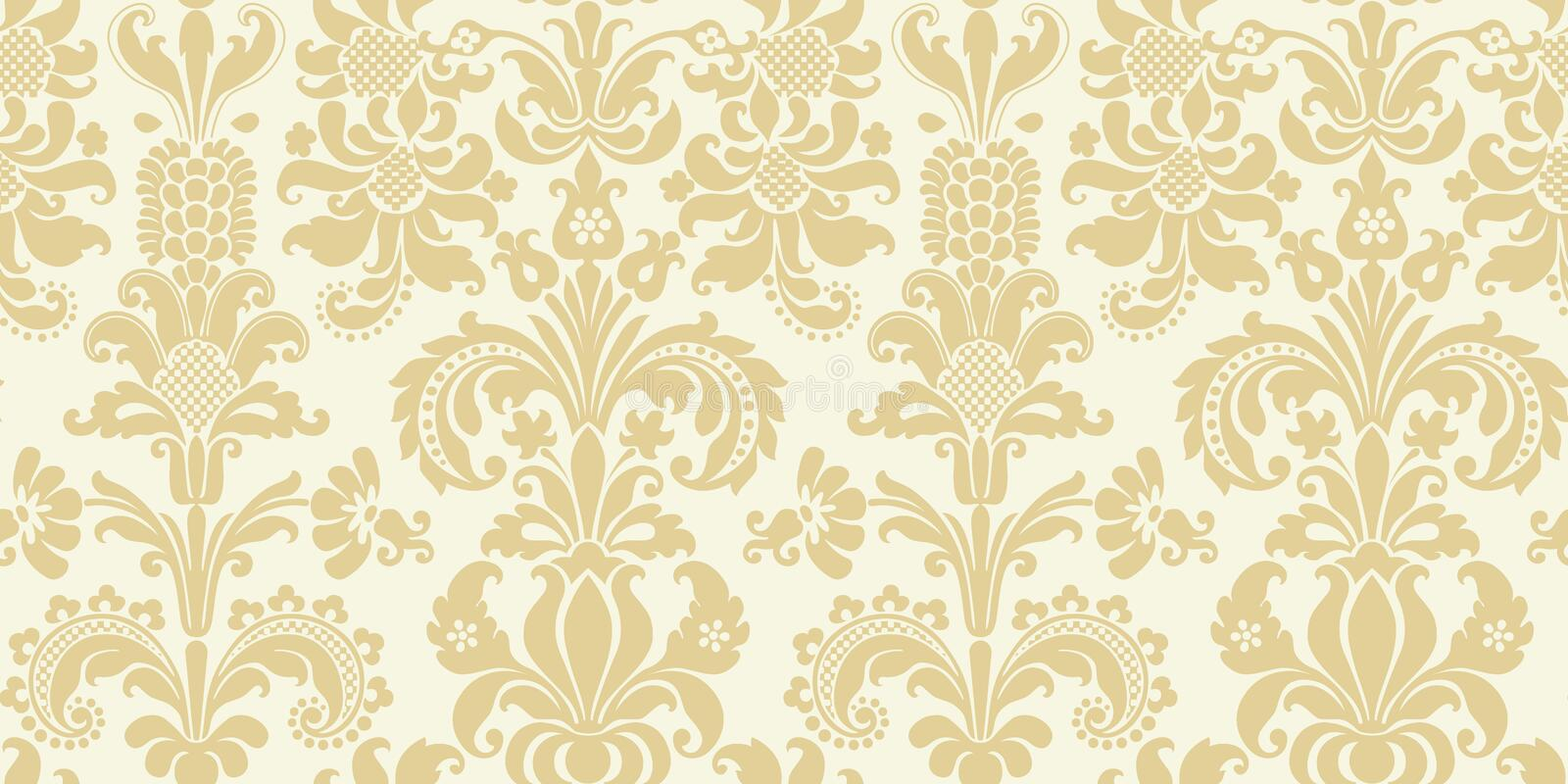 Download Vector Seamless Floral Damask Pattern Stock