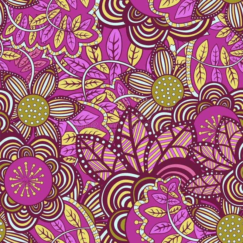 Vector seamless floral pattern. vector illustration