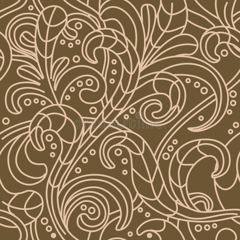 vector Seamless floral pattern background royalty free illustration