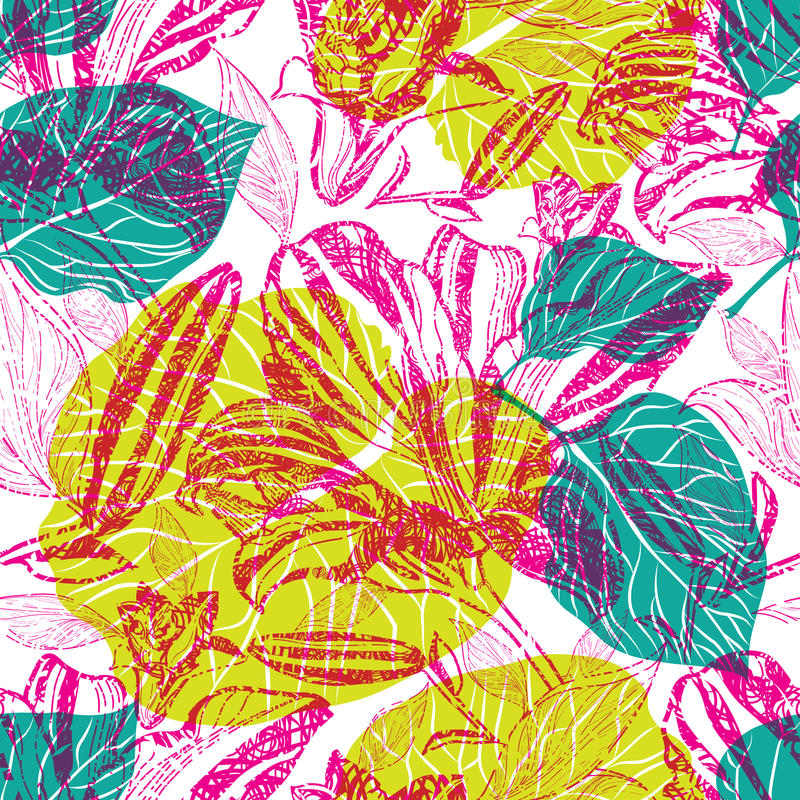 Vector seamless floral pattern vector illustration