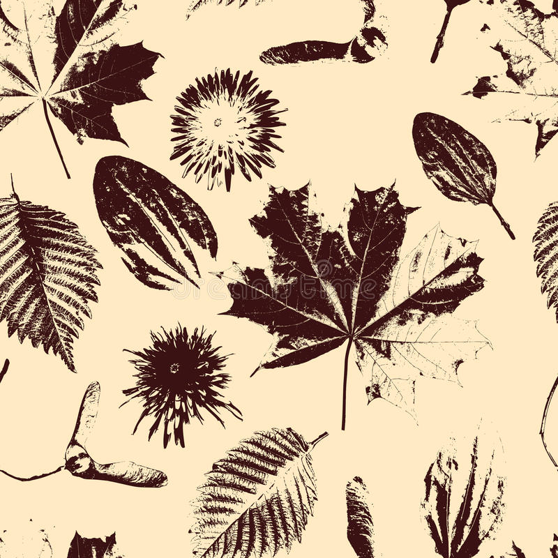 Vector Seamless Floral Pattern stock illustration