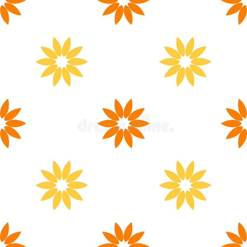 Seamless flower pattern royalty free illustration