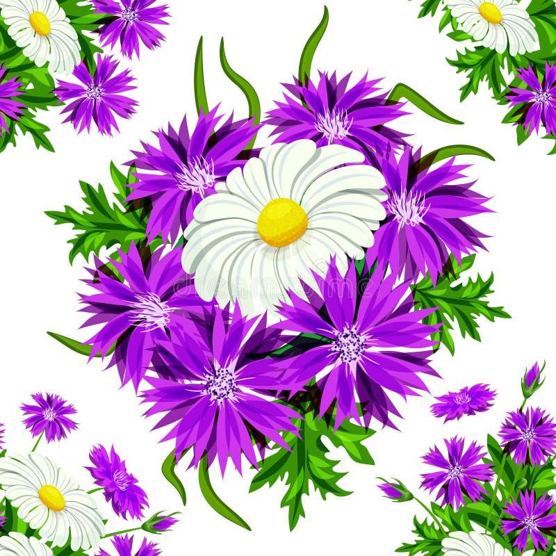 Vector seamless flower royalty free illustration