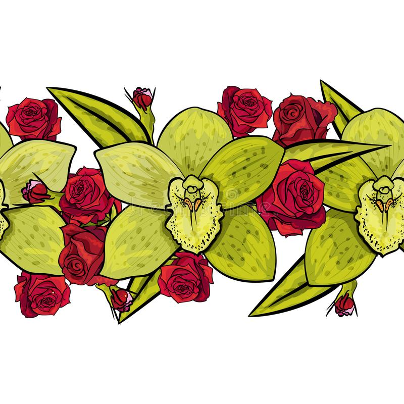 Vector seamless flower patter royalty free illustration