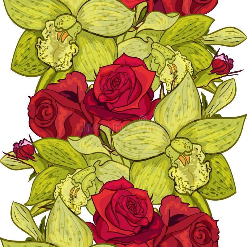 Vector seamless flower vector illustration