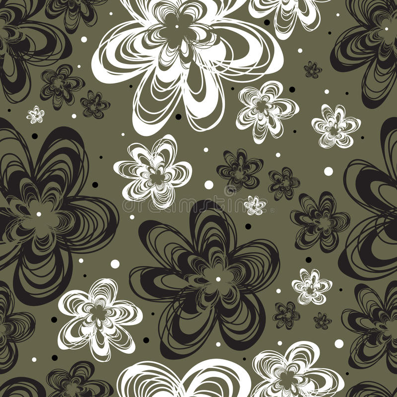 Download Vector Seamless Freehand Floral Pattern Stock Vector - Illustration of series, twirl: 13835030
