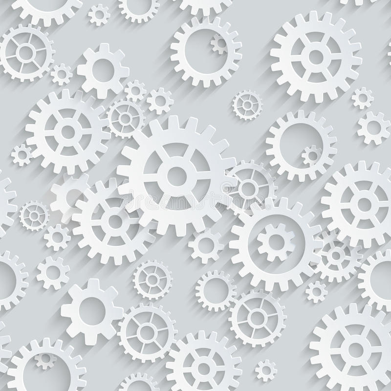 Free Vector Seamless Gears Pattern Stock Images - 43153274