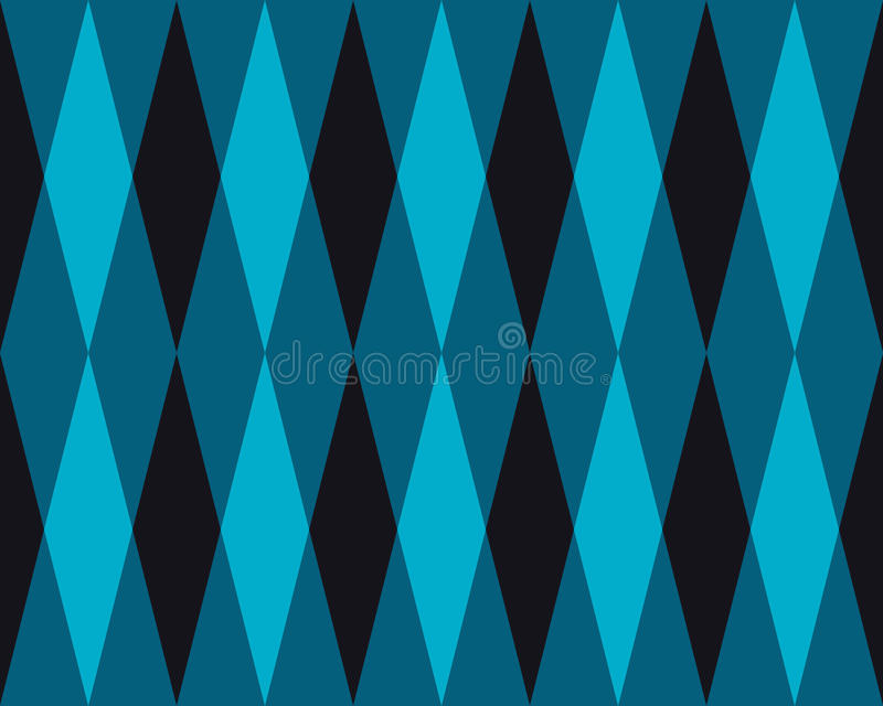 Vector Seamless Geometric Blue Rhombus Triangle Tiling Pattern Abstract Background. vector illustration