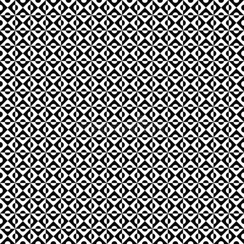 Vector seamless geometric pattern. Abstract texture. Black-and-white background. Monochrome design. vector illustration