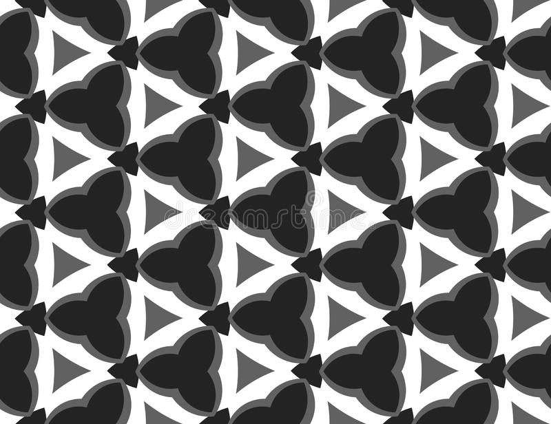 Vector seamless geometric pattern. In black, grey, white colors royalty free illustration