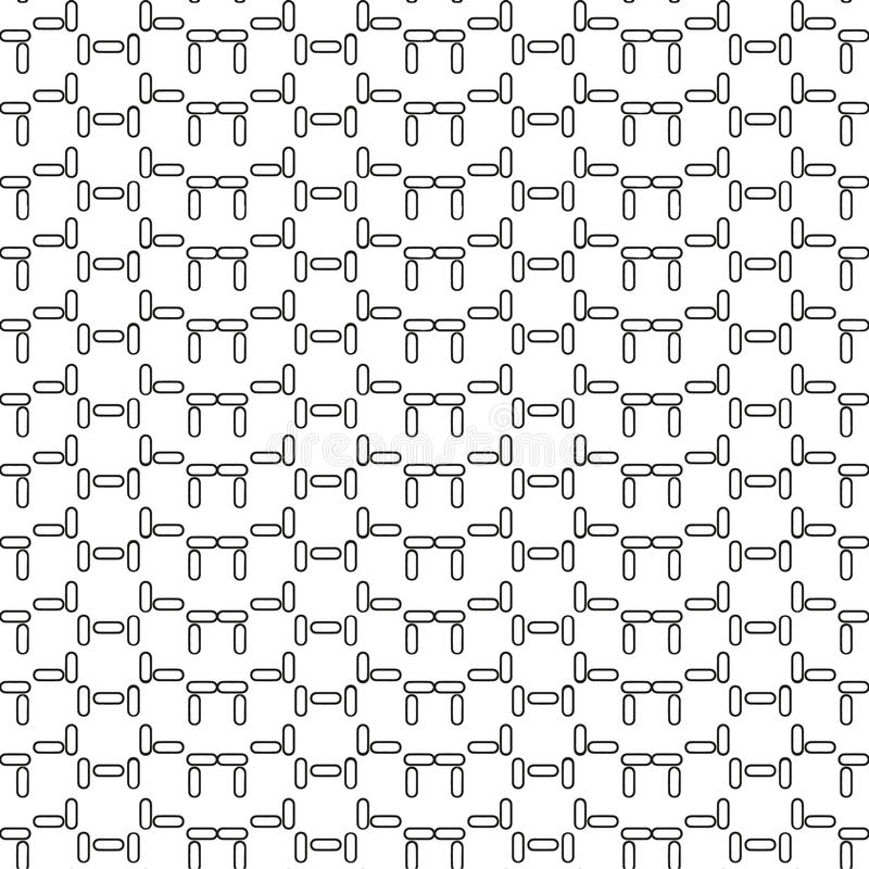 Vector seamless geometric pattern. In a contrasting black and white tones. Monochrome floors, walls, paving slabs royalty free illustration
