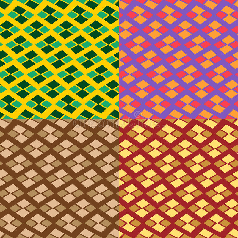 Vector seamless geometric pattern. In four colors vector illustration