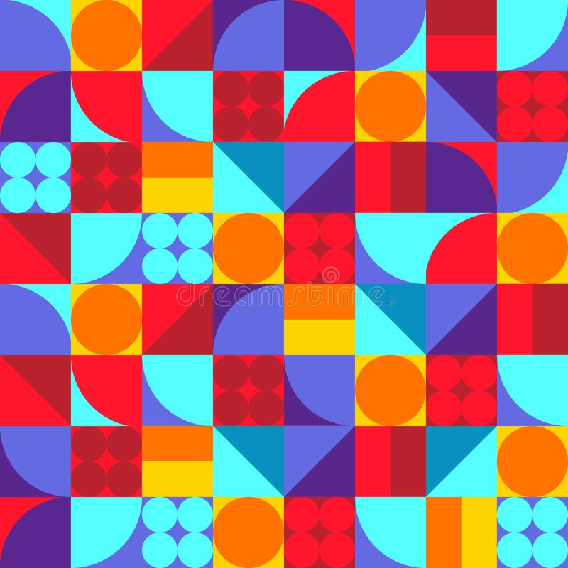 Vector Seamless Geometric Pattern. Simple Texture Design. vector illustration
