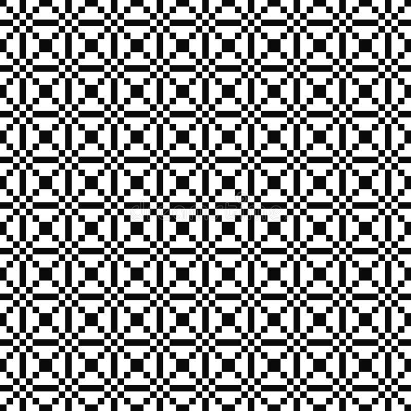 Vector seamless geometric pattern. Simple texture of squares. Black-and-white background. Monochrome design. Vector EPS 10 stock illustration