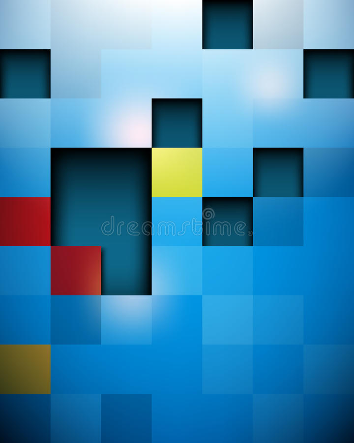 Vector Seamless Glossy Futuristic Blocks Structure Royalty Free Stock Photography