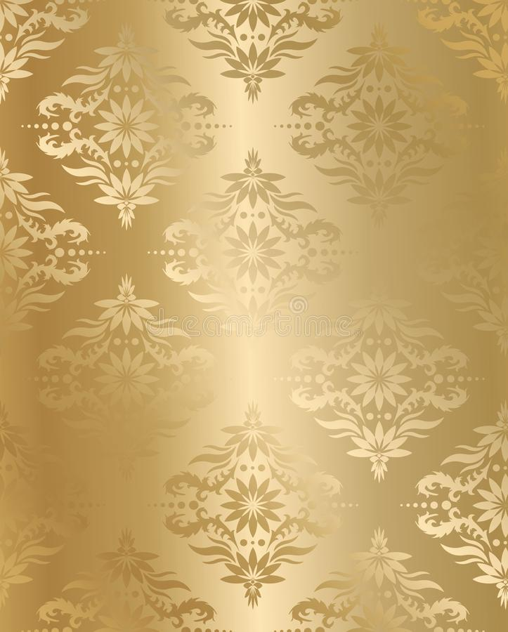 Vector seamless golden silk vector illustration