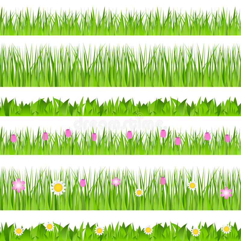 Download Vector Seamless Grass stock vector. Image of many, landscape - 20137234