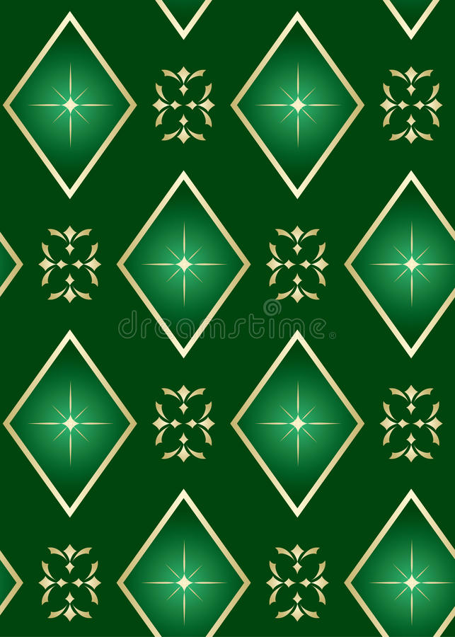 Download Vector Seamless Green Texture With Rhombuses Stock Vector - Illustration of light, green: 15349486
