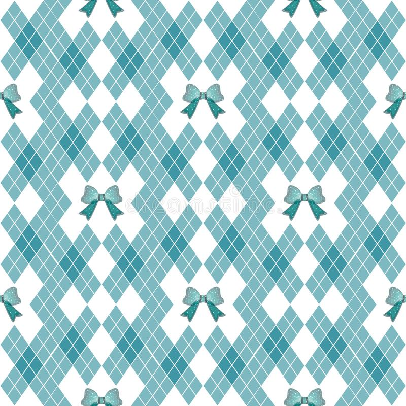 Vector seamless hand drawn pattern with bows. Ribbon decoration pattern for paper, handmade decoration, scrap-booking,. Vector seamless hand drawn pattern with vector illustration