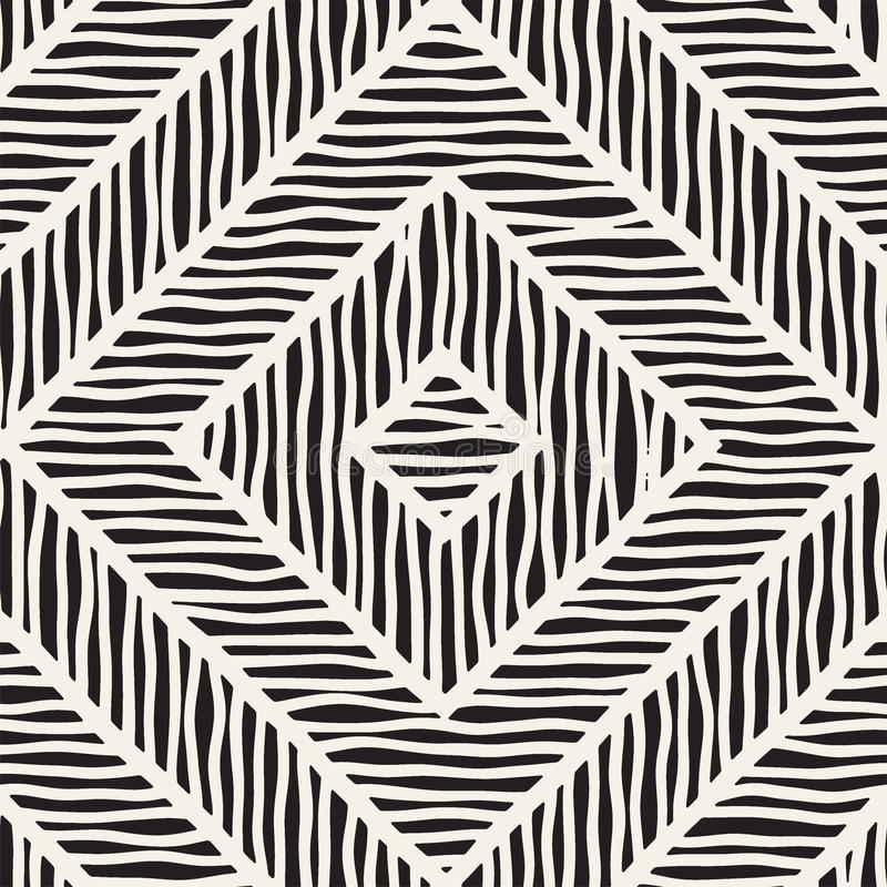 Vector seamless hand drawn pattern. Zigzag and stripe rough lines. Tribal design background. Ethnic doodle texture. Vector seamless hand drawn pattern. Zigzag vector illustration