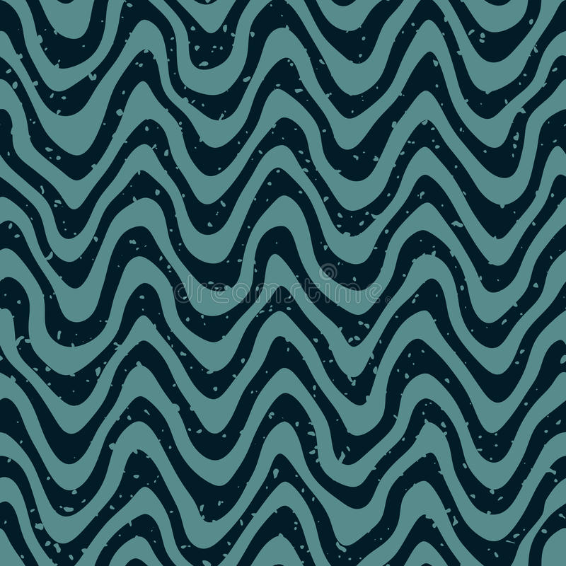 Free Vector Seamless Hand Drawn Wavy Distorted Lines Retro Pattern Royalty Free Stock Photography - 65852877
