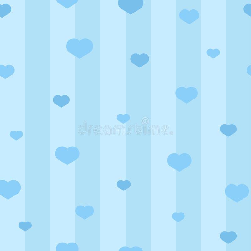 Vector seamless hearts pattern stock illustration