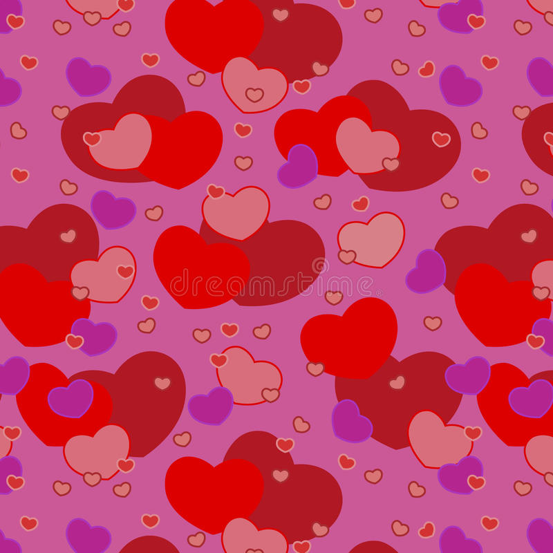 Download Vector Seamless Hearts For Valentine's Day Patter Royalty Free Stock Photo - Image: 23304315