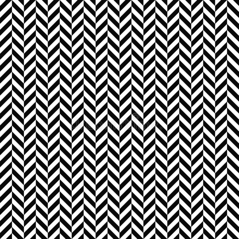 Vector seamless herringbone pattern. Geometric texture. Black-and-white background. Monochrome design. royalty free illustration