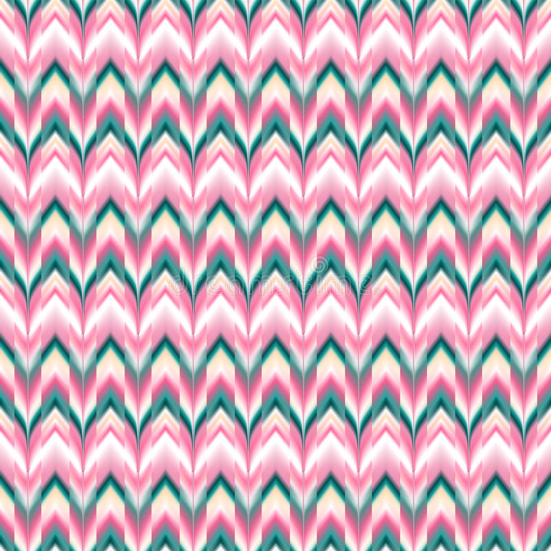Free Vector Seamless Ikat Ethnic Pattern Stock Images - 56307394