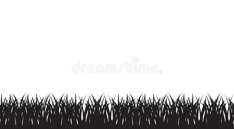 Vector seamless illustration of silhouette of grass royalty free illustration