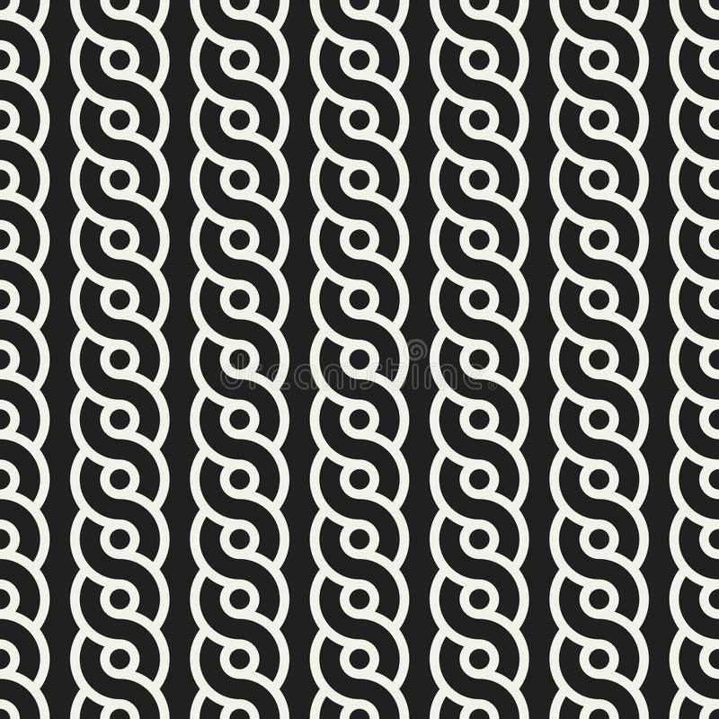 Vector seamless interlacing lines pattern. Modern stylish abstract texture. Repeating geometric tiles stock illustration