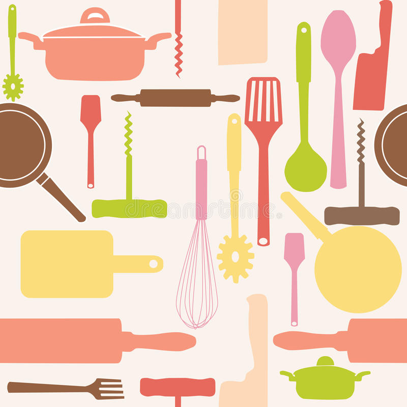 Download Vector Seamless Of Kitchen Tools. Stock Vector - Illustration: 22189687