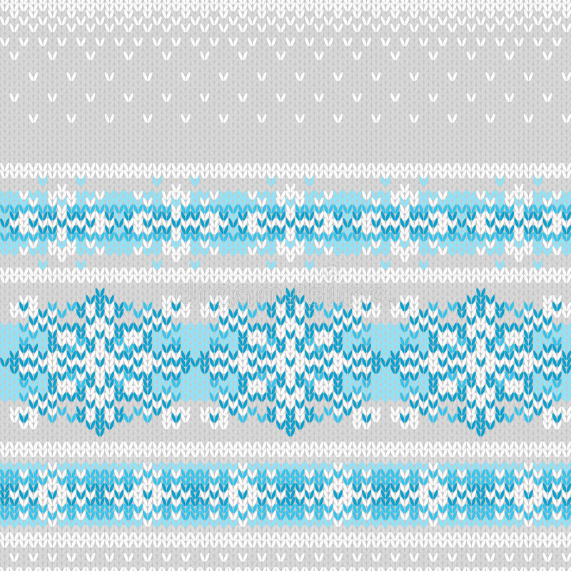 Download Vector Seamless Knitted Pattern With Snowflakes Stock Images - Image: 27871994